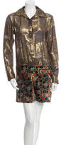 Anna Sui Silk Velvet-Patterned Dress