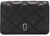 Marc Jacobs Double J Matelasse Compact Wallet in Black.