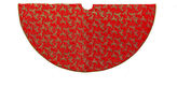 Kurt Adler 52 Red with Holly Decorative Tree Skirt