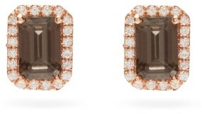 Suzanne Kalan Diamond, Quartz & 14kt Rose-gold Stud Earrings - Rose Gold