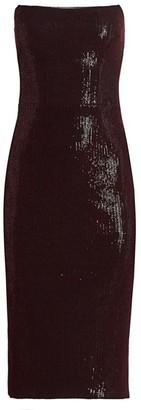 HANEY Strapless Sequin Cocktail Dress