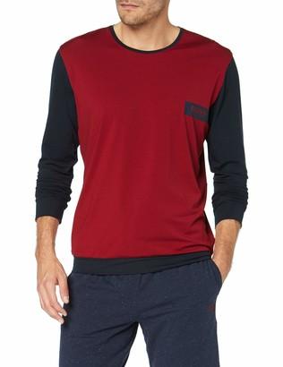 BOSS Men's Balance Ls-Shirt Rn Long Sleeve Top