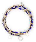 Kenneth Cole Blue Faceted Bead Stretch Bracelet Set