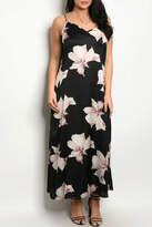 Zenobia Black Floral Dress
