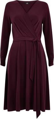 Wallis PETITE Purple Jersey Wrap Midi Dress