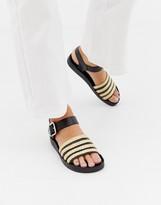 St Sana raffia flat sandal