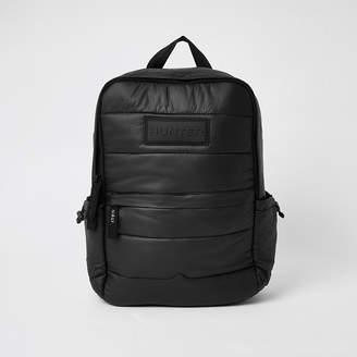 River Island Hunter Originals black padded puffer backpack