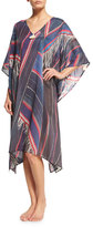 Figue Sade V-Neck Kaftan, Bengal Stripe