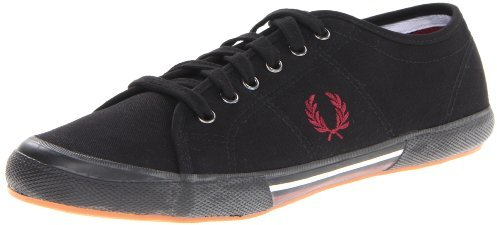 Fred Perry Men's Vintage Tennis Canvas in Black