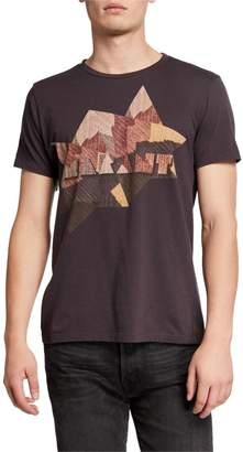 Isabel Marant Men's Zao Western Plaid Logo T-Shirt