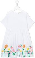 Stella McCartney embroidered flower dress - kids - Cotton - 4 yrs