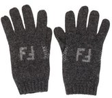 Fendi Wool Rib Knit Gloves