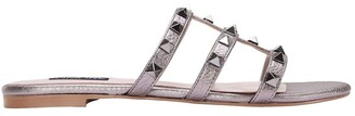 Pink Inc Spain pewter metallic sandal