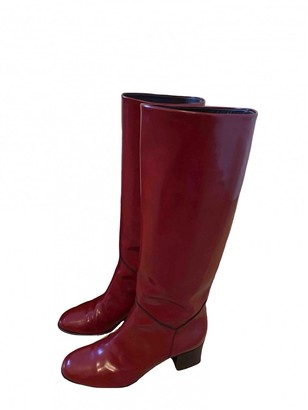 Chanel Red Patent leather Boots