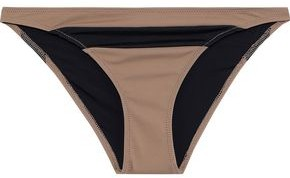 Solid & Striped The Brooke Two-tone Low-rise Bikini Briefs