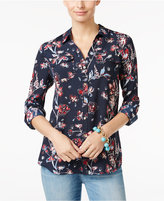 Charter Club Floral-Print Utility Shirt, Only at Macy's