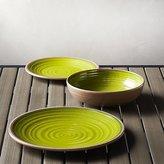 Crate & Barrel Caprice Green Melamine Dinnerware