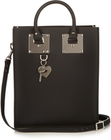 Sophie Hulme Mini Albion buckle leather tote
