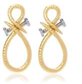 David Webb Infinity Nail Earrings