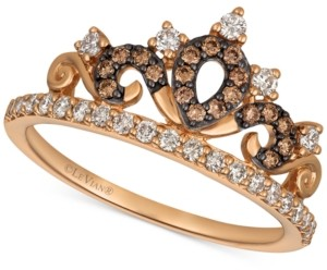 LeVian Le Vian Chocolatier Diamond Tiara Ring (3/8 ct. t.w.) in 14k Rose Gold