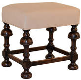 One Kings Lane Vintage 19th-C. Oak Trumpet-Leg Stool