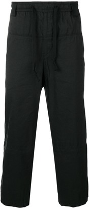 Ziggy Chen Cropped Loose Fit Trousers