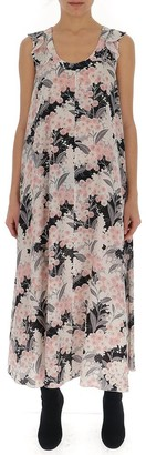 RED Valentino Floral Print Maxi Dress