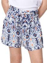 Dex Girl's Printed Self-Tie Shorts
