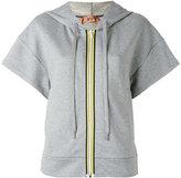 No.21 short sleeve zipped hoodie - women - Cotton - 42