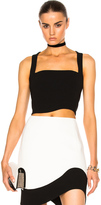 Thierry Mugler Technical Cady Top in Black.