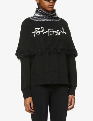 Palm Angels Desert logo-print knitted neck warmer