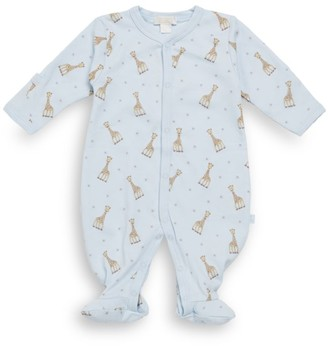 Kissy Kissy Baby Boy's Giraffe Print Pima Cotton Footie