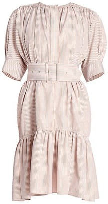 Chloé Striped Cotton Poplin Dress
