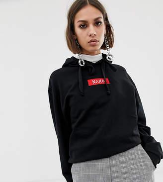 NA-KD Na Kd logo hoodie in black