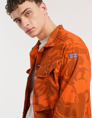 Milk It Vintage camo army jacket in orange
