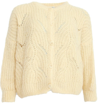 Sweet Like You - Buttoned Knitted Cardigan Light Yellow - one size