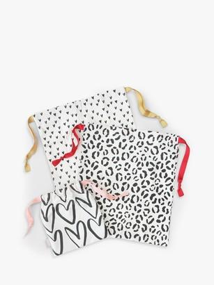 Caroline Gardner Leopard Print Travel Bags, Set of 3