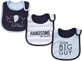 Carter's 3-Pack Teething Bibs - Navy Elephant- One Size