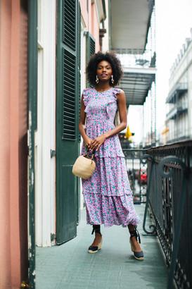 Banjanan Audrey Sprig Sachet Pink Iris Dress