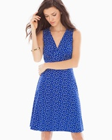 Soma Intimates Sleeveless Isabella Short Dress Cobalt Confetti Dot