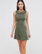 Club L Peter Pan Collar A Line Dress