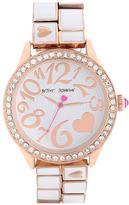 Betsey Johnson Round Bracelet Watch, 42mm