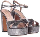 Marc Jacobs Debbie Snake-printed Metallic-leather Platform Sandal