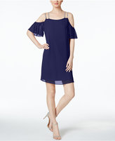 MSK Rhinestone Off-The-Shoulder Shift Dress