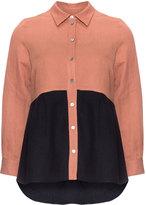 Isolde Roth Plus Size Tonal long sleeve blouse