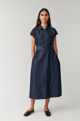 Cos Belted Organic Cotton Denim Dress