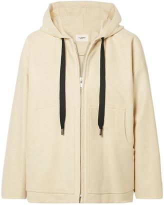 Etoile Isabel Marant Chelsea Brushed Wool-blend Hooded Jacket