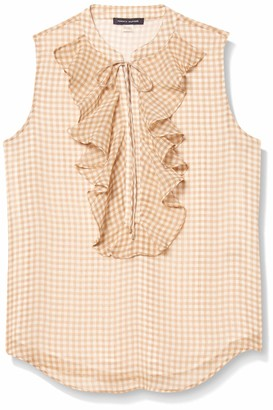 Tommy Hilfiger Women's Front Sleeveless Woven Blouse