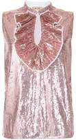 No.21 sequinned sleeveless blouse