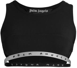 Palm Angels Logo Tape Bikini Top